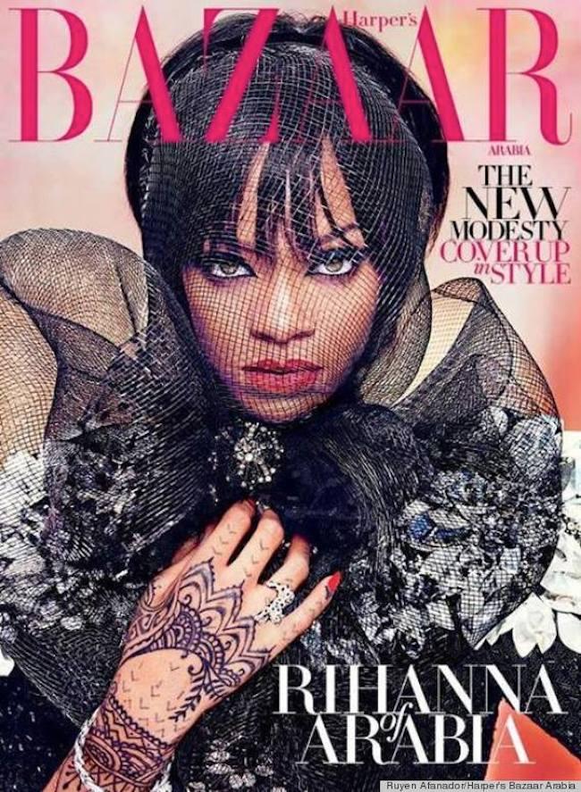 Rihanna Harpers Bizaar Arabia