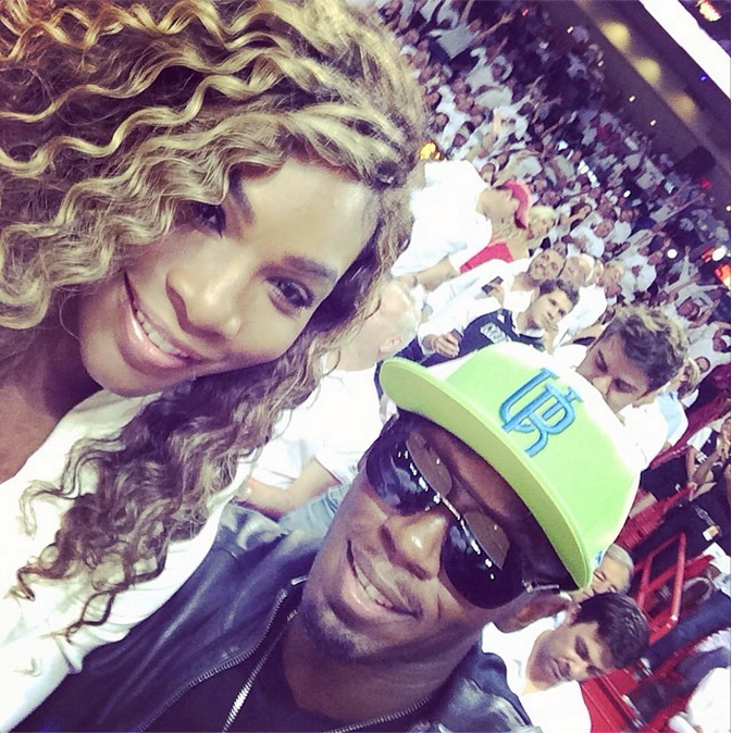 Usain Bolt and Serena Williams selfie