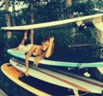 Beyonce surf board pic