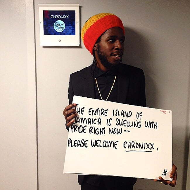 Chronixx on Tonight Show