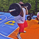 Rick Ross weight lifting