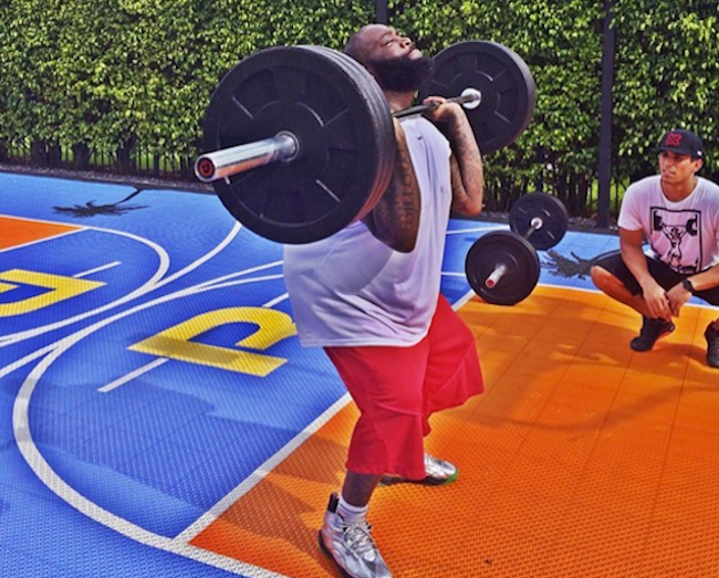 Rick Ross weight lifting