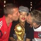 Rihanna Podolski and  Schweinsteiger