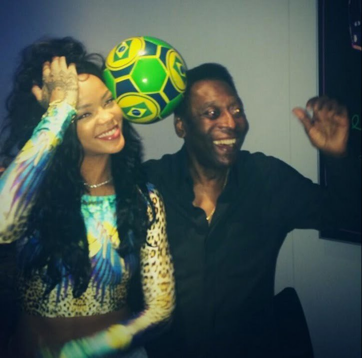 Rihanna and Pele 1