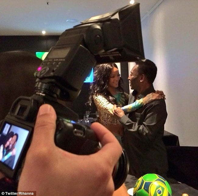 Rihanna and Pele pic
