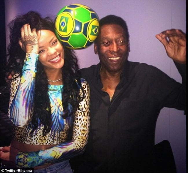 Rihanna and Pele