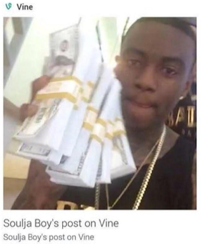 Soulja Boy fake money