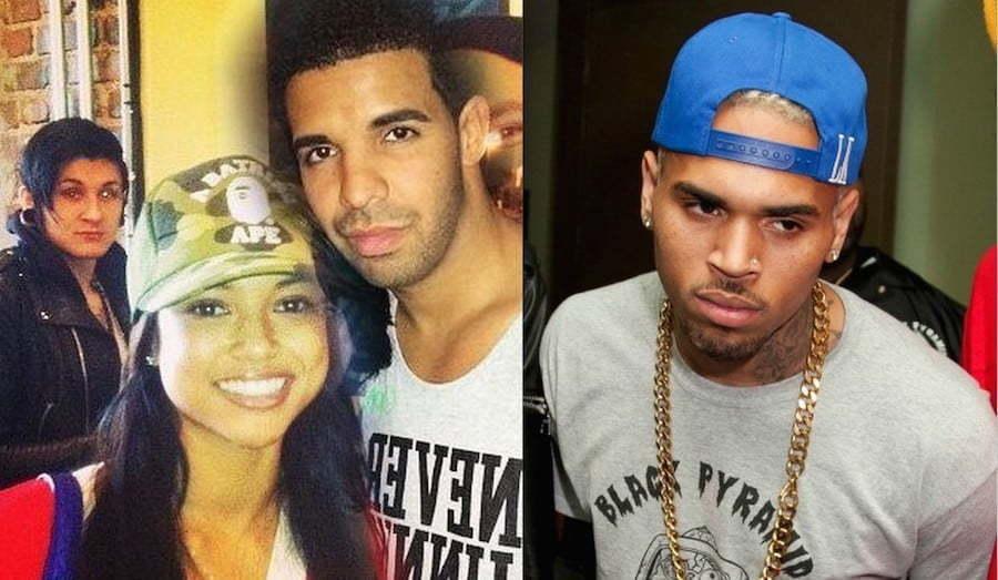Karrueche Drake and Chris Brown