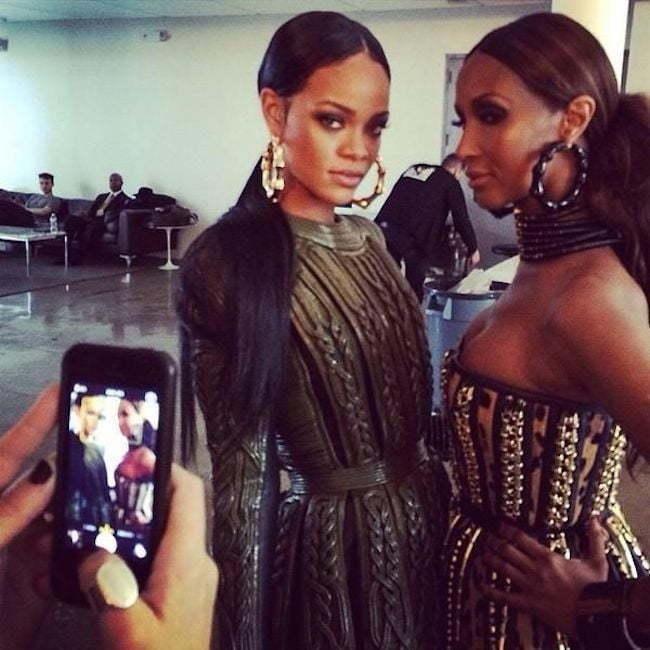 Rihanna and Iman