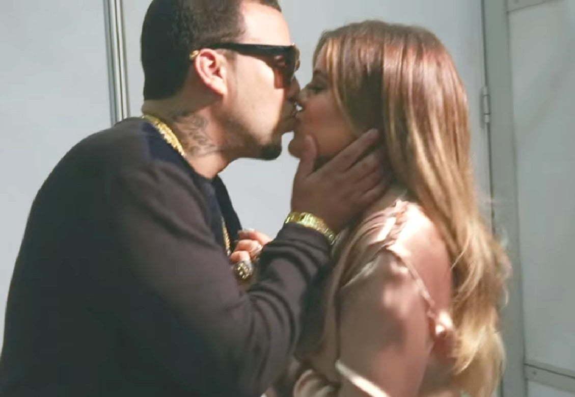 Khloe Kardashian and French Montana kissing