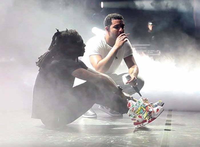 Lil Wayne and Drake Grinding