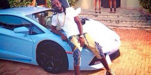 Mavado Showing Off His Tricked Out Lamborghini