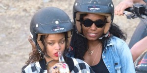 Rihanna Smoking & Drinking As Her Holiday Fun Heats Up