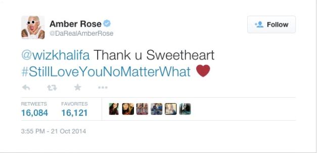 Amber rose twitter