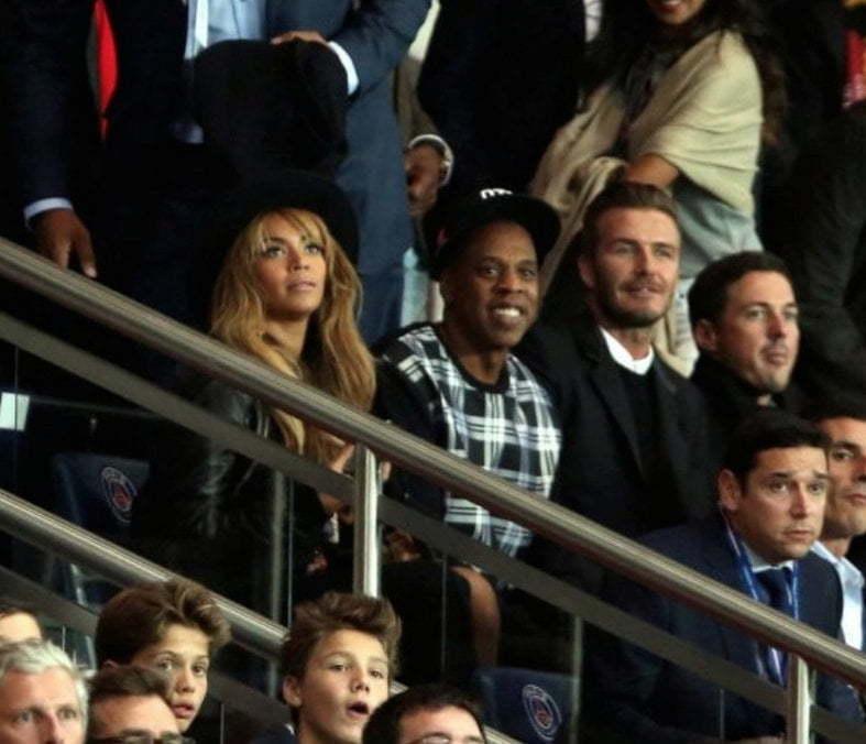 Beyonce Jay Z and David Beckham