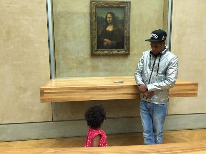 Blue Ivy and Jay Z Louvre