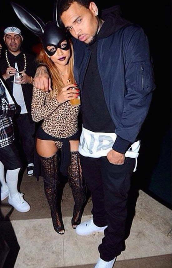 Chris Brown and Karrueche Tran halloween