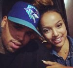 Chris Brown and Karrueche Tran selfie