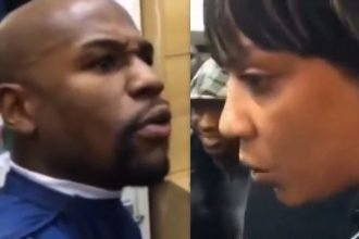 Floyd Mayweather & Jamaican Woman Arguing, She Don't Know Who He Is
