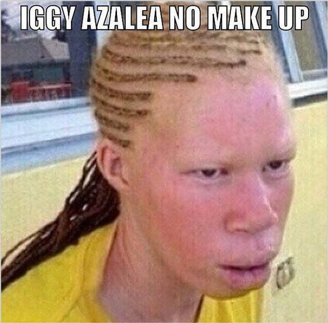 Iggy Azalea no makeup meme