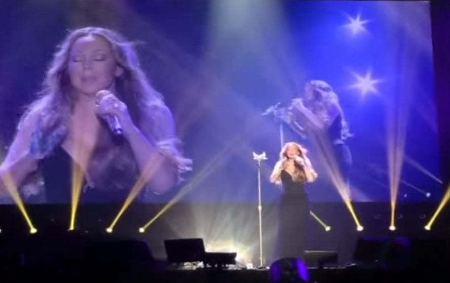 Mariah Carey voice malfunction