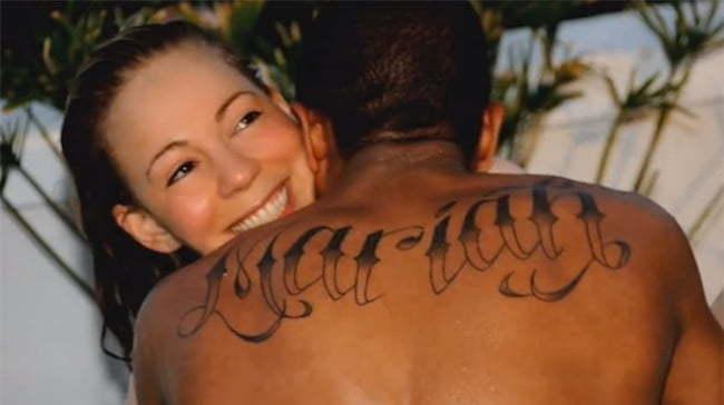 Nick Cannon Mariah tattoo