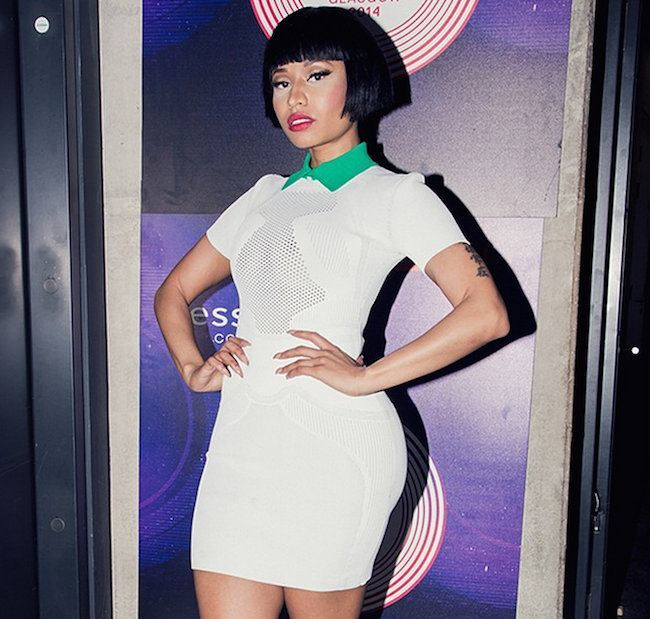 Nicki Minaj White Dress EMAs