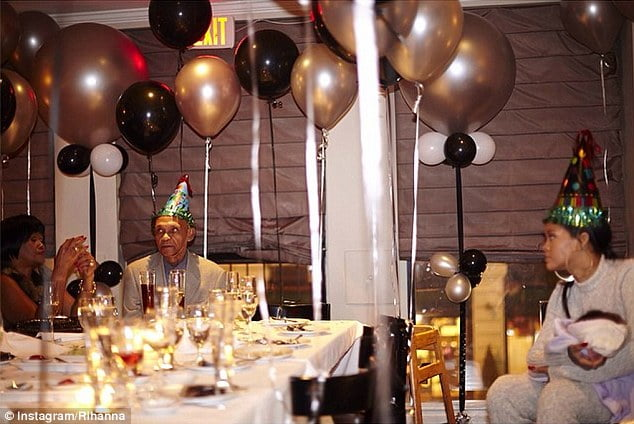 Rihanna grand dad birthday