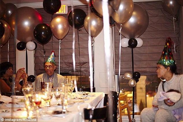 Rihanna grand dad birthday