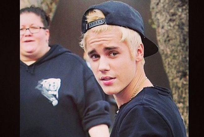 Justin Bieber Debut Platinum Blond Hair