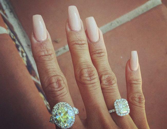 Karrueche Tran diamond rings