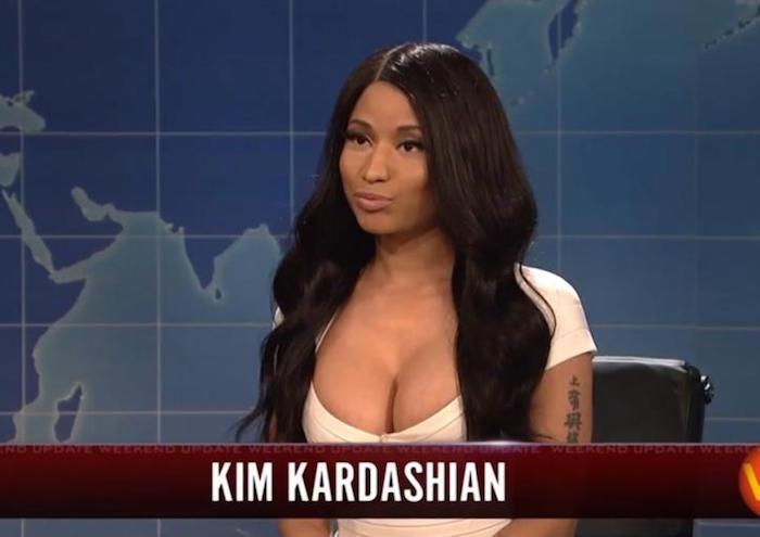 Nicki Minaj Kim Kardashian SNL