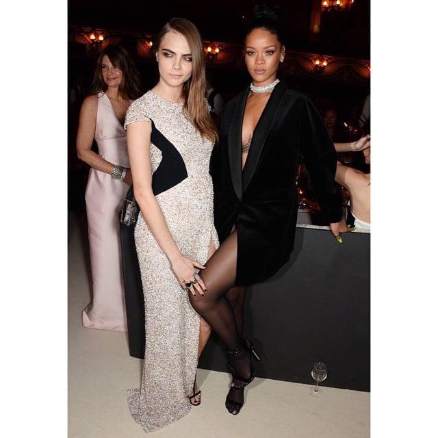 Rihanna and Cara Delevingne Brit Award