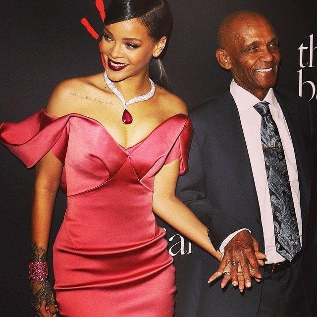 Rihanna and Grandfather at Diamond Ball