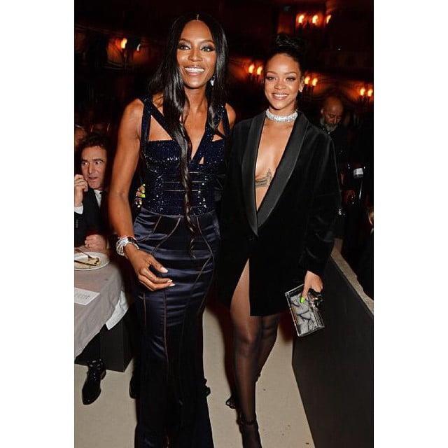 Rihanna and Naomi Campbell