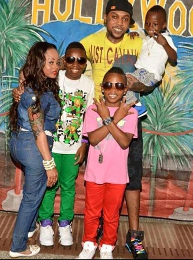 Vybz Kartel family photo