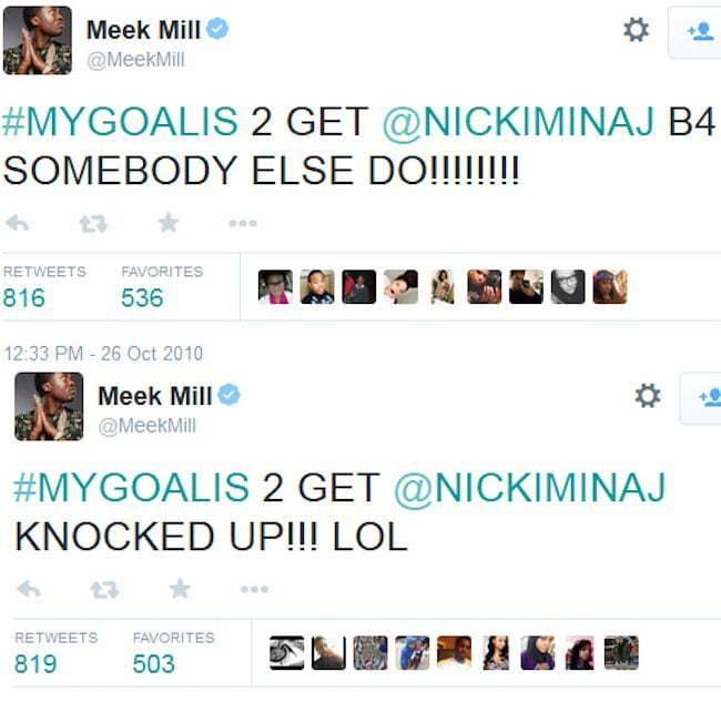 Meek Mill Nicki Minaj Twitter