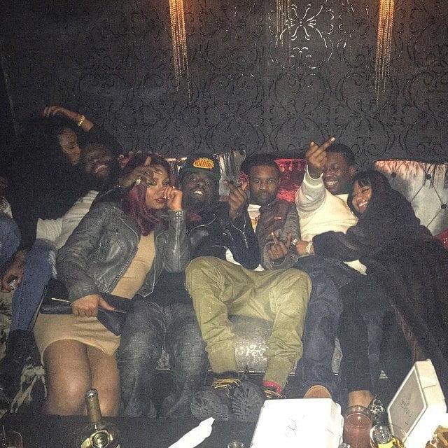Nicki Minaj and Meek Mill cuddling