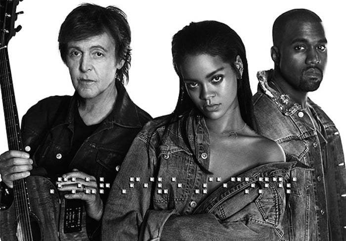 Paul McCartney Rihanna and Kanye West