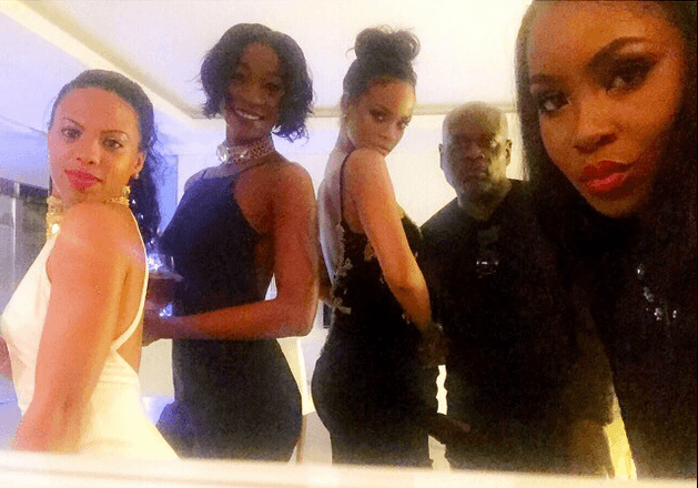 Rihanna Melissa Forde and LA Reid