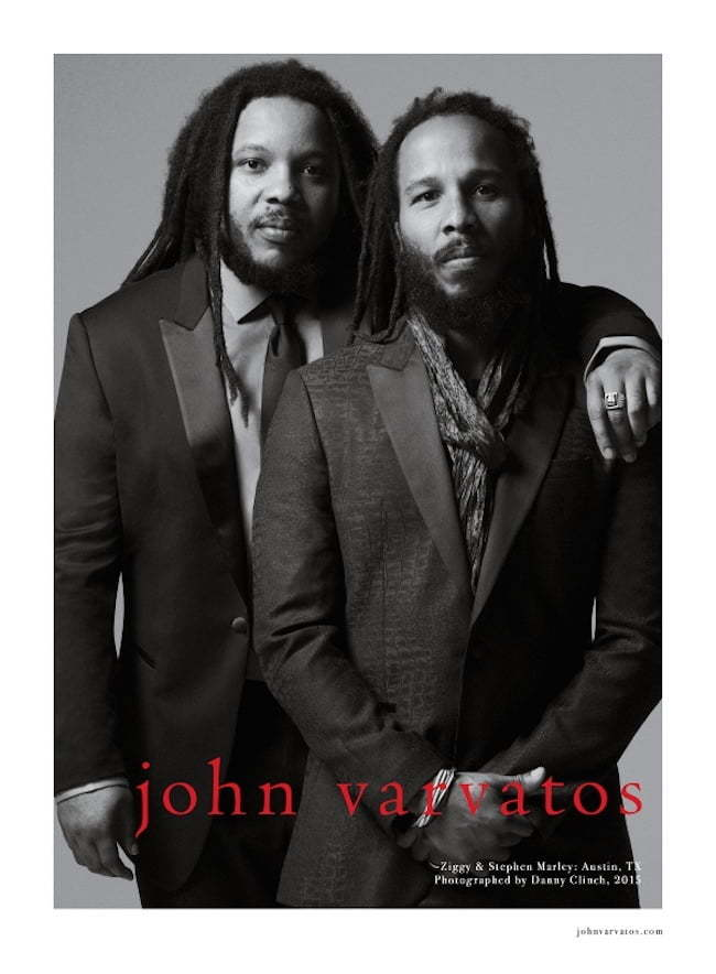 Ziggy and Stephen John Varvatos campaign