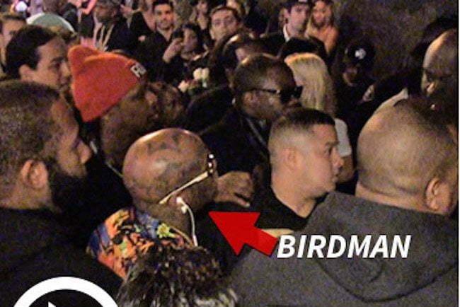 Birdman at Nicki Grammy party