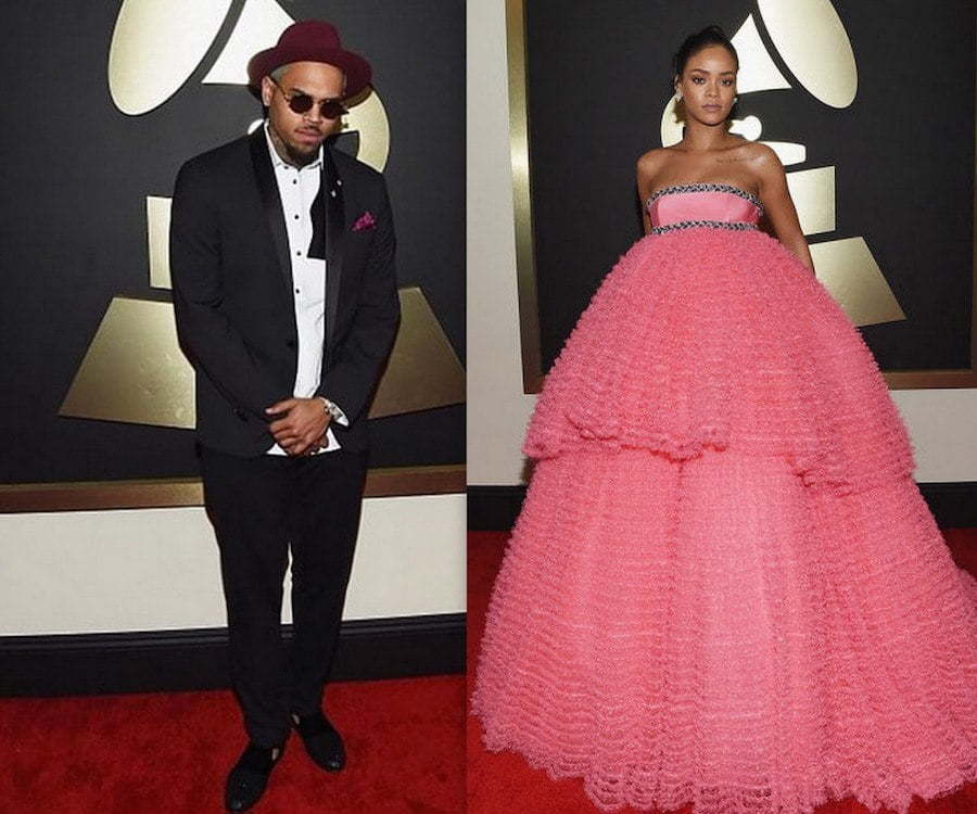 Chris Brown and Rihanna Grammy 2015