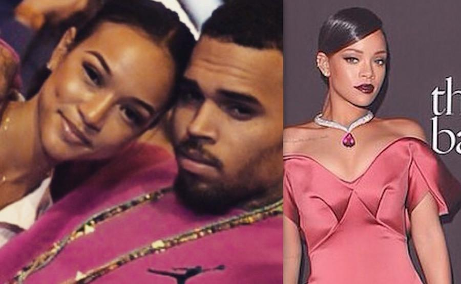 Karrueche Chris Brown and Rihanna