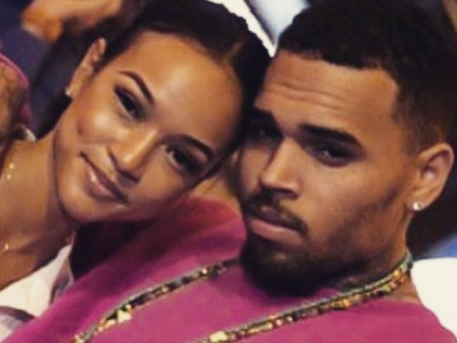 Karrueche Tran and Chris Brown