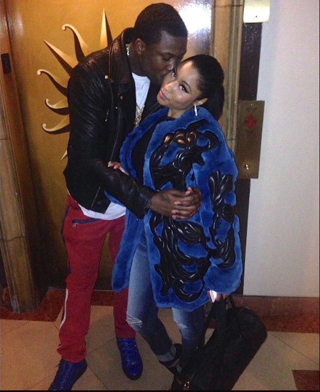 Meek Mill Nicki Minaj kissing