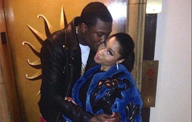 Meek Mill Nicki Minaj kissing