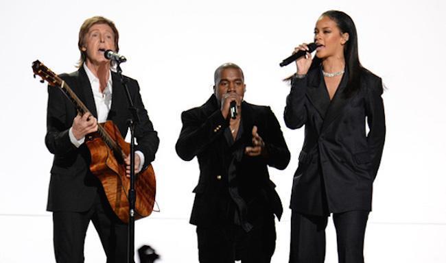 Paul McCartney Kanye West and Rihanna Grammys