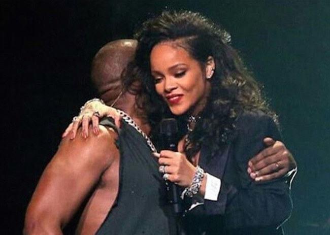 Rihanna and Kanye West concert
