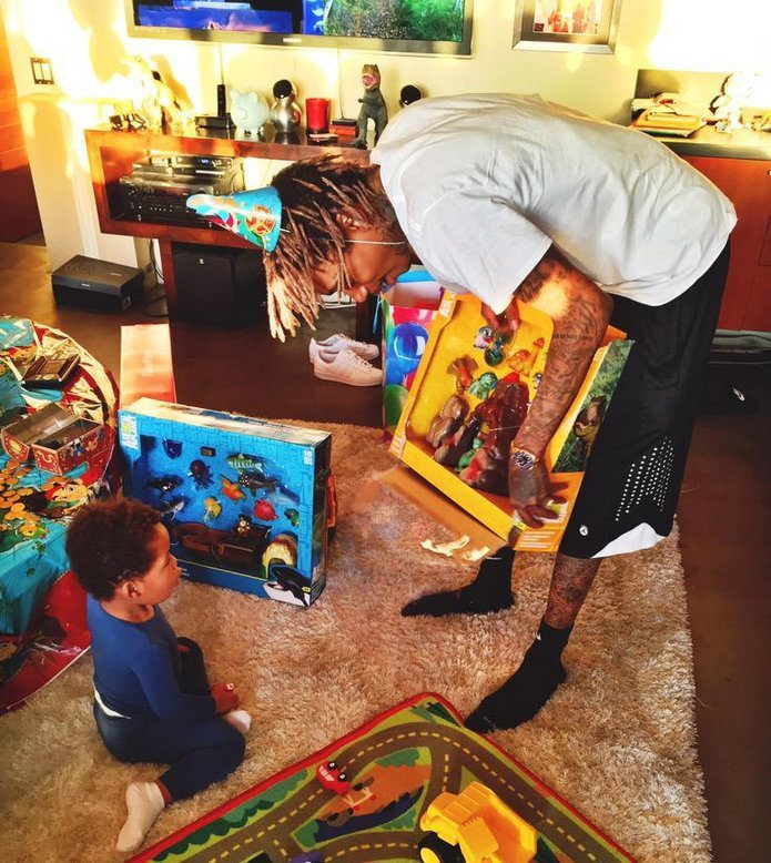 Wiz Khalifa son birthday party